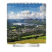 Keswick And Derwent Water View From Latrigg Shower Curtain