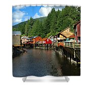 Ketchikan Creek Shower Curtain