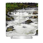 Ketchikan Creek Of Creek Street Fame Shower Curtain