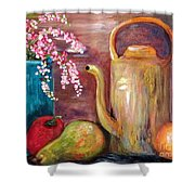 Kettle And Fruit Shower Curtain