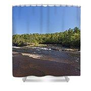 Kettle River Big Spring Falls 1 Shower Curtain