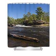Kettle River Big Spring Falls 6 Shower Curtain