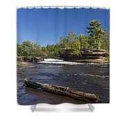 Kettle River Big Spring Falls 7 Shower Curtain
