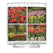 Keukenhof Garden Collage Shower Curtain