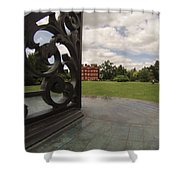 Kew Sundial Shower Curtain