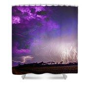 Kewl Nebraska Cg Lightning And Krawlers 038 Shower Curtain