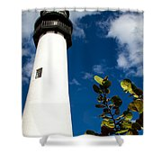 Key Biscayne Lighthouse, Florida Shower Curtain