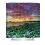 Key Biscayne Sunset Shower Curtain