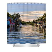 Key Largo Canal Shower Curtain