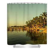Key Largo Gold  Shower Curtain