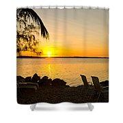 Key Largo Sunrise Shower Curtain