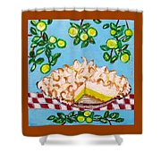 Key Lime Pie Mini Painting Shower Curtain