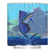 Key Sail Off0040 Shower Curtain