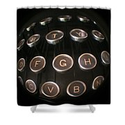 Key To Communication Shower Curtain