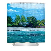 Key West Beach Shower Curtain