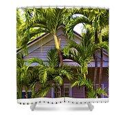 Key West Bungalow Shower Curtain