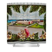 Key West High School From The 60's Era Shower Curtain