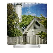 Key West Lighthouse Dsc01547_16 Shower Curtain