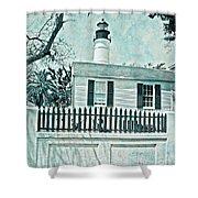 Key West Lighthouse Impression Shower Curtain