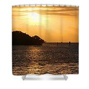 Key West Mangrove Sunrise Shower Curtain