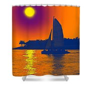 Key West Passion Shower Curtain