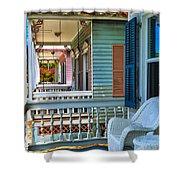 Key West Porches Shower Curtain