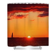 Key West Red Cloud Sunset Shower Curtain