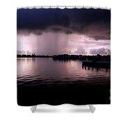 Key West Storm At The Bridge 2 Shower Curtain