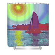 Key West Sun Shower Curtain