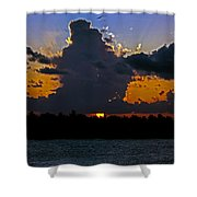Key West Sunset Glory Shower Curtain