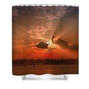 Key West Sunset Panoramic Shower Curtain