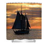 Key West Sunset Sail 6 Shower Curtain