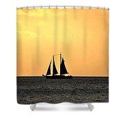 Key West Sunset Sail Shower Curtain
