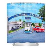 Key West U.s. Naval Station Shower Curtain