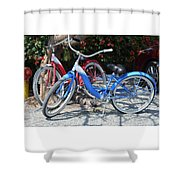 Key West Vintage Bicycles Shower Curtain