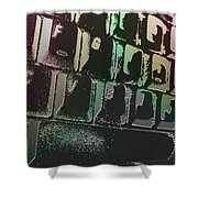 Keyboard In The Abstract Shower Curtain