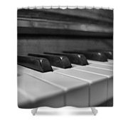 Keys To The Piano Shower Curtain