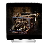 Keys To Words Shower Curtain