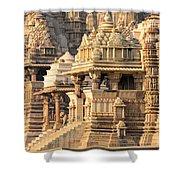 Khajuraho Temple, Chhatarpur District Shower Curtain