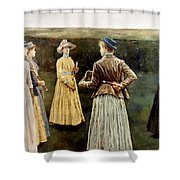 Khnopff: Memoires, 1889 Shower Curtain