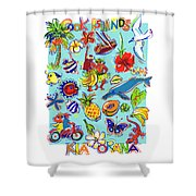 Kia Orana Cook Islands Shower Curtain