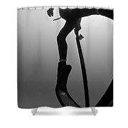 Kick Up Shower Curtain