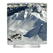 Kicking Horse Endless Extreme Skiing Shower Curtain