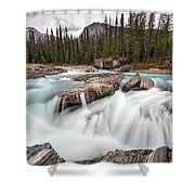 Kicking Horse River Cascades Shower Curtain