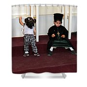 Kids And Religion Shower Curtain