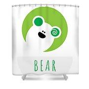 Kids Bear Poster Shower Curtain