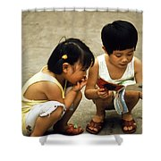 Kids In China 1986 Shower Curtain