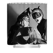 Kids In Halloween Costumes Shower Curtain