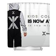 Kids Jumpsuits Shower Curtain
