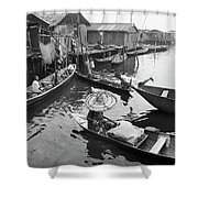 Waterways And Canoes Shower Curtain